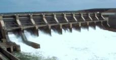 Water provides power for hydroelectric energy.